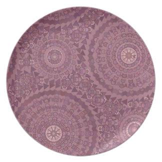Purple Rain Drops Party Plates