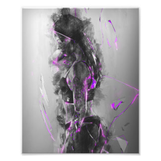 Purple rain electric Beauty Photo Print