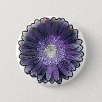 Purple Rain gerbera 2 Inch Round Button