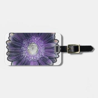 Purple Rain gerbera Bag Tag