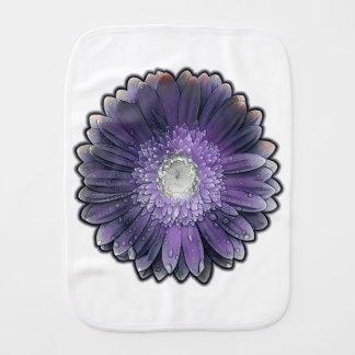 Purple Rain gerbera Burp Cloth