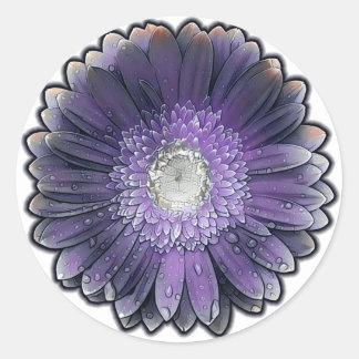 Purple Rain gerbera Classic Round Sticker