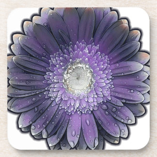 Purple Rain gerbera Coaster