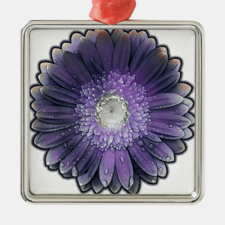 Purple Rain gerbera Metal Ornament