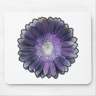 Purple Rain gerbera Mouse Pad
