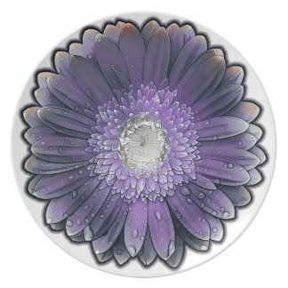 Purple Rain gerbera Plate