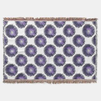 Purple Rain gerbera Throw Blanket