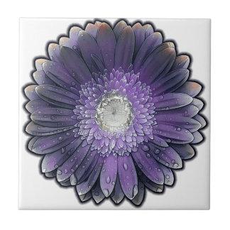 Purple Rain gerbera Tile