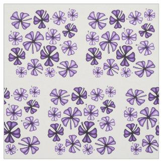Purple Rain Lucky Shamrock Clover Fabric