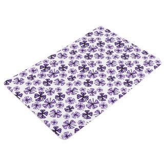 Purple Rain Lucky Shamrock Clover Floor Mat