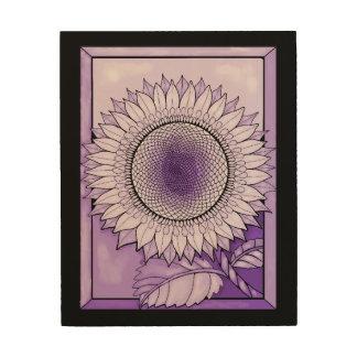 Purple Rain Sunflower Wood Wall Decor