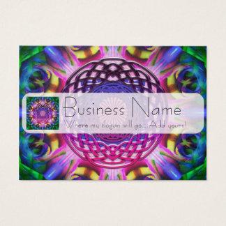 Purple Rainbow Celtic Knot Business Card