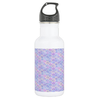 Purple Rainbow Mermaid Pastel Pattern 532 Ml Water Bottle