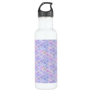 Purple Rainbow Mermaid Pastel Pattern 710 Ml Water Bottle