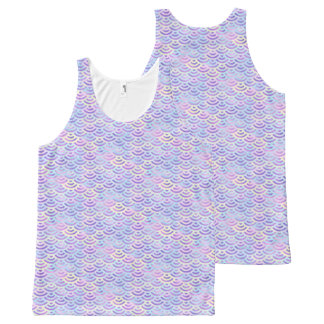 Purple Rainbow Mermaid Pastel Pattern All-Over-Print Tank Top