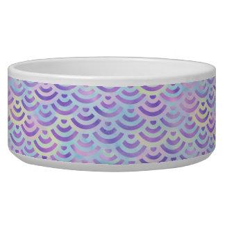 Purple Rainbow Mermaid Pastel Pattern Dog Food Bowl