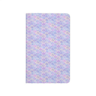 Purple Rainbow Mermaid Pastel Pattern Journal