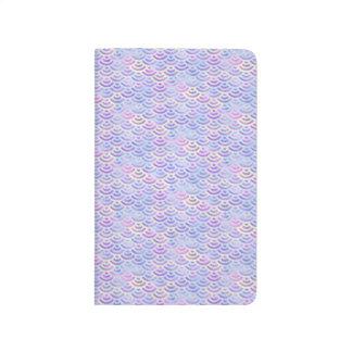 Purple Rainbow Mermaid Pastel Pattern Journals
