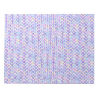 Purple Rainbow Mermaid Pastel Pattern Notepad