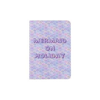 Purple Rainbow Mermaid Pastel Pattern Passport Holder
