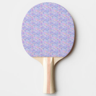 Purple Rainbow Mermaid Pastel Pattern Ping Pong Paddle