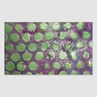 Purple Raine, Abstract  in Purple and Green Dots