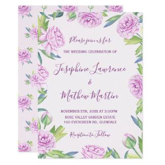 Purple Ranunculus Spring Wedding Invitations