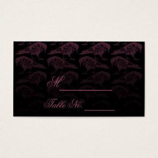 Purple Raven Gothic Wedding Place Card