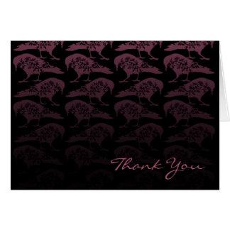 Purple Raven Gothic Wedding Thank You Card