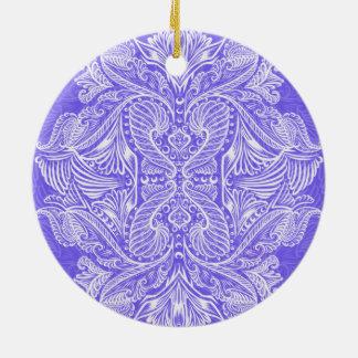 Purple, Raven of mirrors, dreams, bohemian Ceramic Ornament