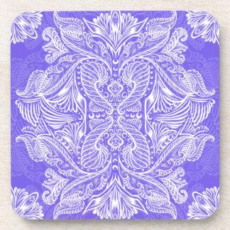 Purple, Raven of mirrors, dreams, bohemian Coaster