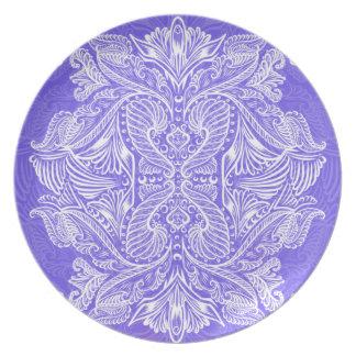 Purple, Raven of mirrors, dreams, bohemian Plate