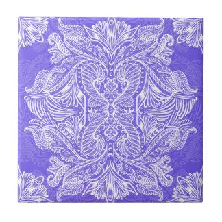 Purple, Raven of mirrors, dreams, bohemian Tile