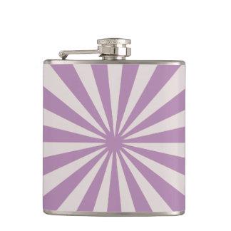 Purple rays hip flask