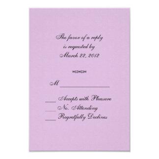 Purple Rays RSVP Card