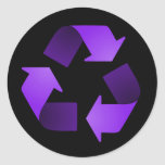 Purple Recycling Symbol Sticker