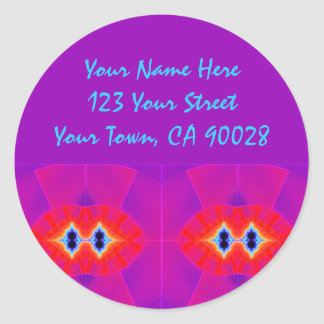 Purple Red Address Labels