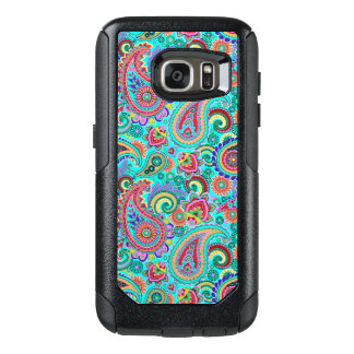 Purple Red And Yellow Paisley OtterBox Samsung Galaxy S7 Case