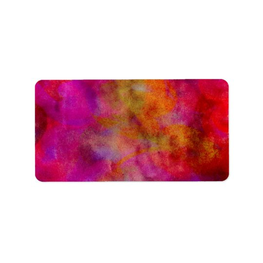 Purple Red Colourful Watercolor Abstract
