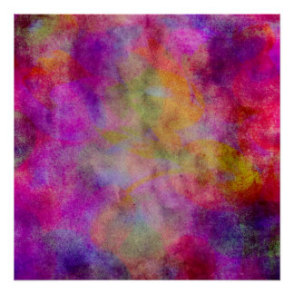 Purple Red Pink Watercolor Abstract Background Poster
