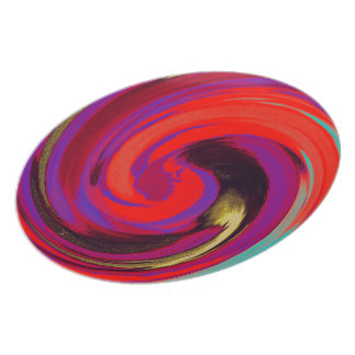 Purple Red Swirl Abstract Plate