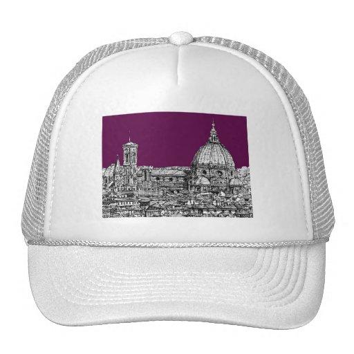 Purple renaissance drawing trucker hats