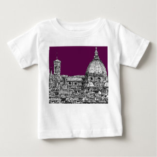 Purple renaissance drawing tee shirt