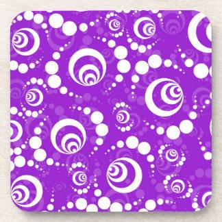 Purple Retro Crop Circles Coasters