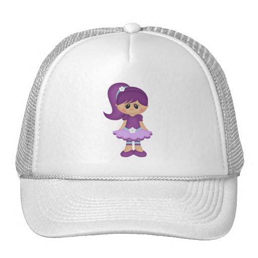 Purple Retro Girly Colorful Doll Hats