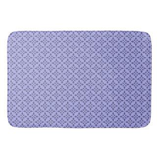Purple Retro Mosaic Pattern Bath Mat