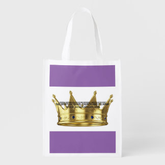 PURPLE - REUSABLE TOTE BAG -  DURABLE & AFFORDABLE GROCERY BAGS