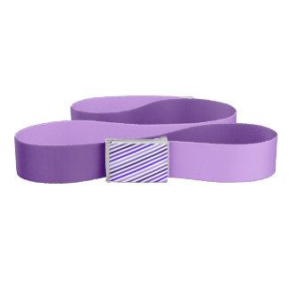 Purple Reversible Belt w/Striped Buckle