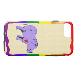 Purple rhinocerous i phone 7 case