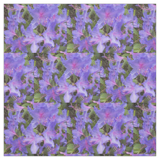 Purple Rhododendron Blooms Floral Fabric